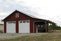 Metal Storage Buildings garage-pole-building-with-awning