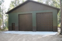 Metal Storage Buildings residential-pole-building-gargage-in-Coeur-dAlene