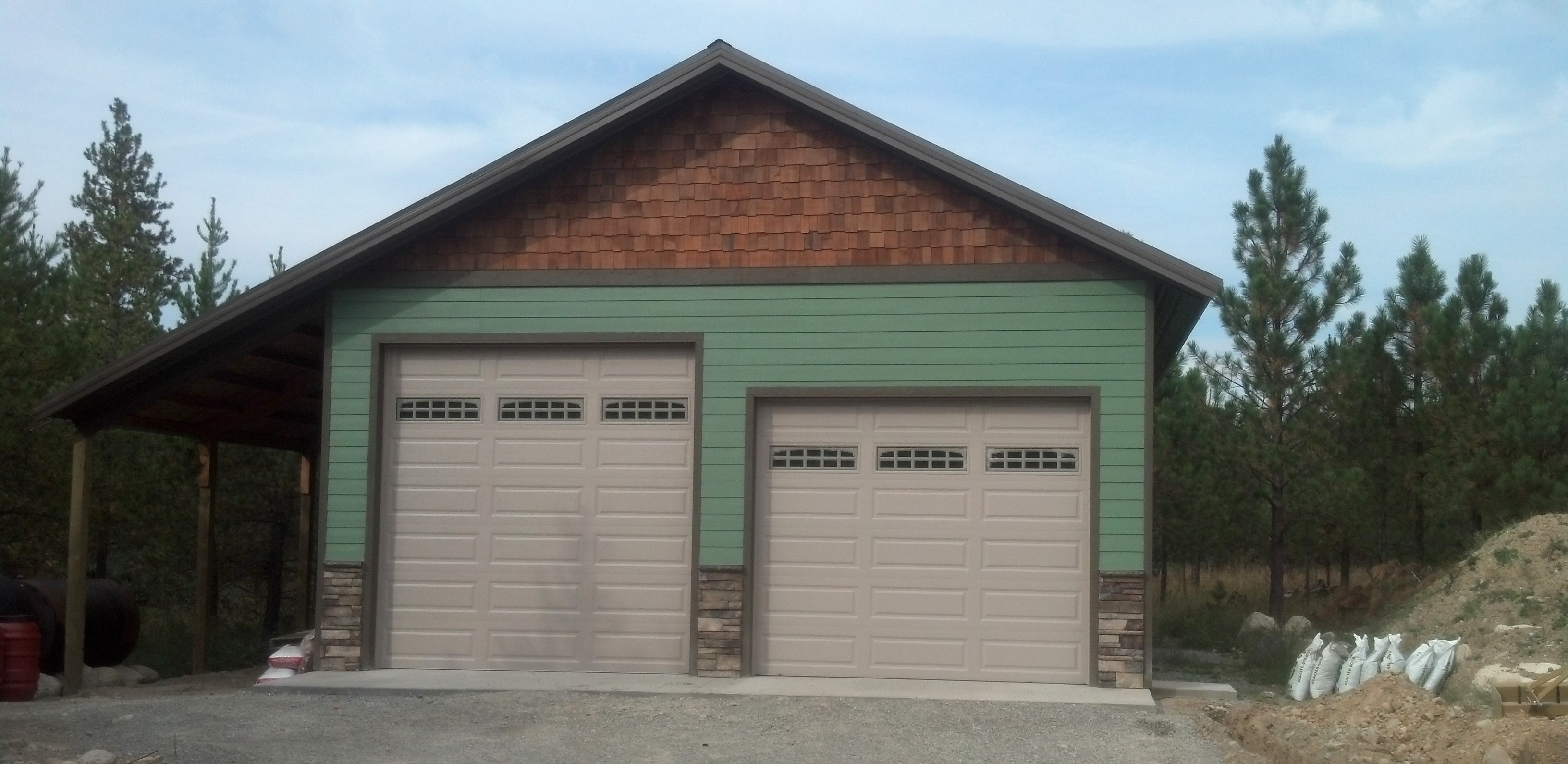 Steel metal storage buildings shops garages for Garage building designs