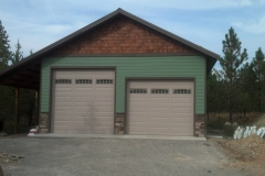 Metal Storage Buildings two car garage
