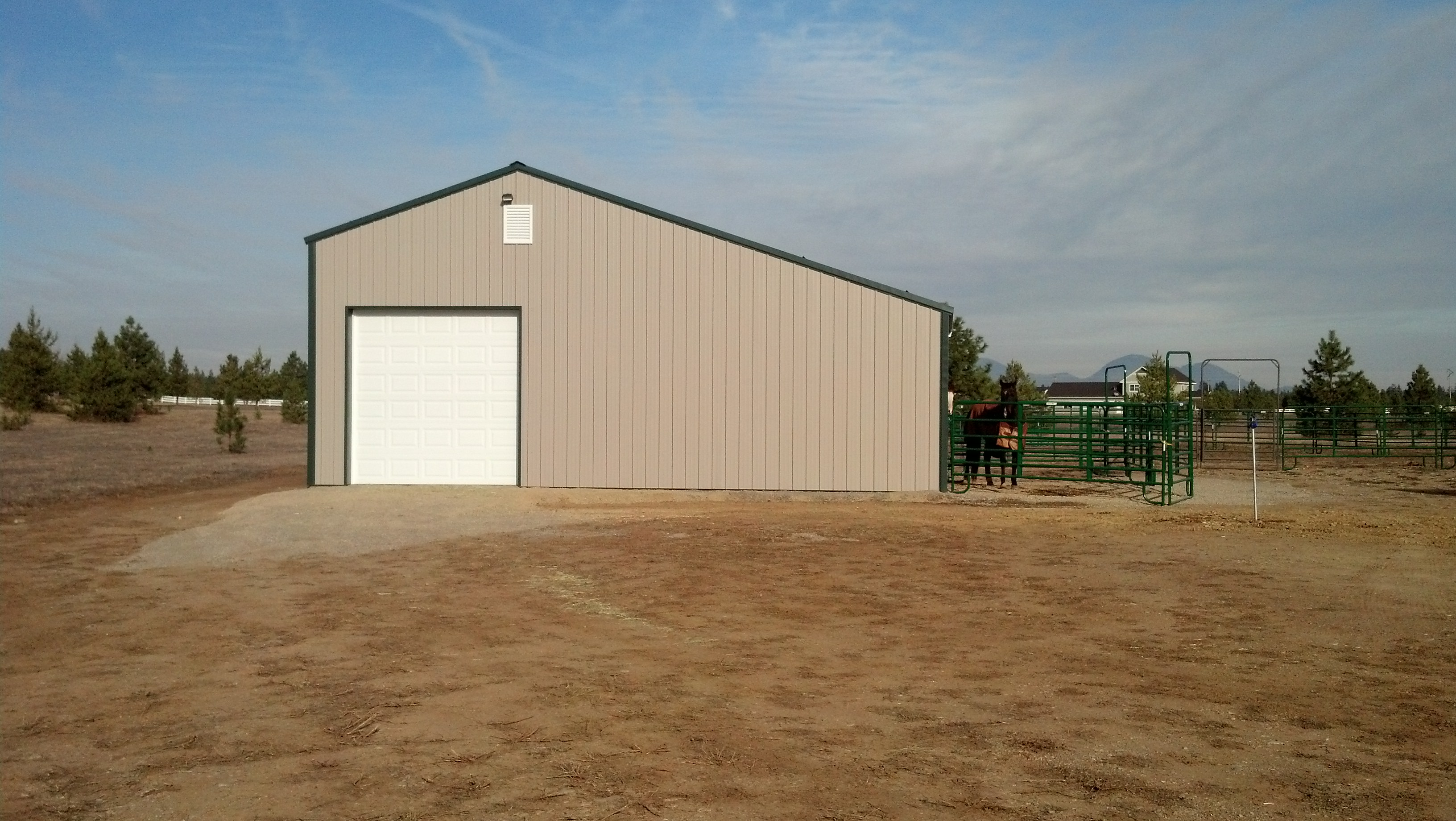 Agricultural equestrian buildings including steel for Steel barn structures