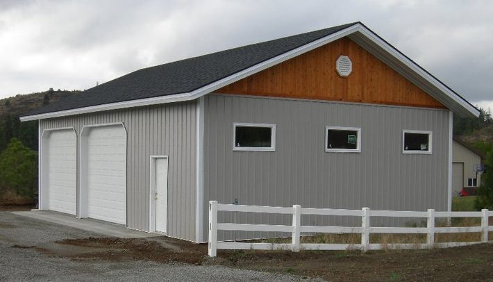 residential metal storage building garage pole building